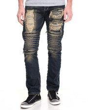 Jeans & Pants - MOTO - STYLE ZIPPER DENIM JEANS