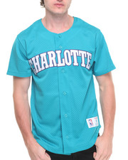 Shirts - Charlotte Hornets NBA Mesh Button Front Jersey