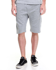 Men - Zipper Moto Sweatshort