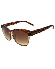 Accessories - Catty Textured Raised Top Brow Sunglasses