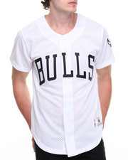 Jerseys - Chicago Bulls NBA Mesh Button Front Jersey