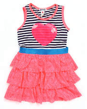 Sizes 4-6x - Kids - STRIPE RUFFLE DRESS (4-6X)