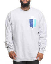 Men - 50-50 Tie-Dye Pocket Crewneck Sweatshirt