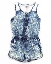 Girls - ACID WASH ROMPER (4-6X)