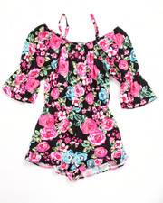 Girls - OFF THE SHOULDER FLORAL ROMPER (7-16)