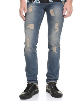 Denim - Print Distressed Jeans
