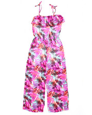 Girls - TROPICAL PRINT JUMPSUIT (7-16)