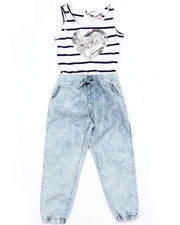 Girls - ACID WASH JUMPSUIT (4-6X)