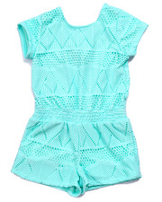 Girls - AZTEC TEXTURE TIE BACK ROMPER (7-16)