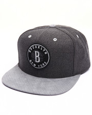 Men - Brooklyn Nets Cation Perforated Suede Snapback Cap