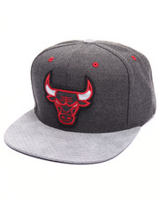 Men - Chicago Bulls Cation Perforated Suede Snapback Cap