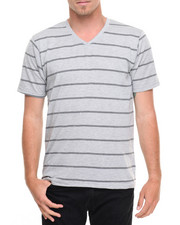 Basic Essentials - Basic Pinstripe V - Neck S/S Tee