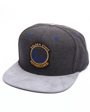 Mitchell & Ness - Golden State Warriors Cation Perforated Suede Snapback Cap