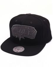 Men - San Antonio Spurs Grey Tonal Logo Snapback Cap