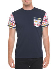 Basic Essentials - Aztec - Trim Printed S/S Tee