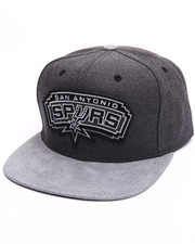 Men - San Antonio Spurs Cation Perforated Suede Snapback Cap