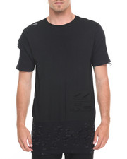 Men - Odd Asymmetrical T-Shirt w/ Moto Detail