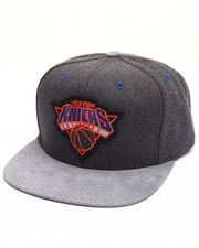 Men - New York Knicks Cation Perforated Suede Snapback Cap