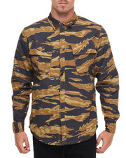 HUF - BDU Military L/S Button-down