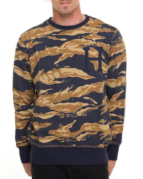 Huf Men Golden Tiger Stripe Camo Crew Sweatshirt Camo Medium