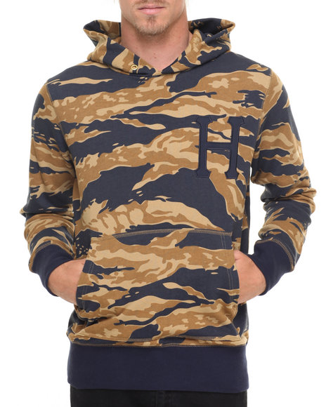 Huf Men Golden Tiger Stripe Camo Pullover Hoodie Camo X-Large