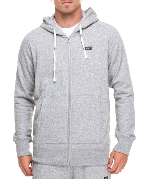 Huf Men Cadet Zip Up Hoodie Grey Large