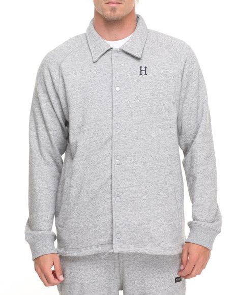 Huf Men Fleece Coaches Jacket Grey X-Large