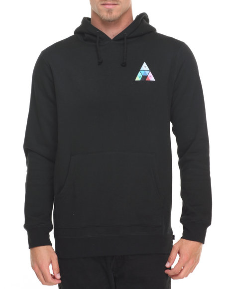 Huf Men Triangle Prism Pullover Hoodie Black Large