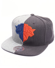 NBA, MLB, NFL Gear - New York Knicks Split Heather Snapback Cap