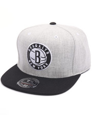 NBA, MLB, NFL Gear - Brooklyn Nets Melange Flannel High Crown Fitted Cap