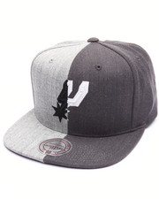 NBA, MLB, NFL Gear - San Antonio Spurs Split Heather Snapback Cap