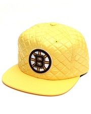 Men - Boston Bruins Quilted 20 D Snapback Cap