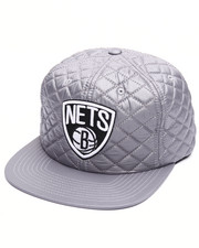 NBA, MLB, NFL Gear - Brooklyn Nets Quilted 20 D Snapback Cap