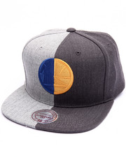 NBA, MLB, NFL Gear - Golden State Warriors Split Heather Snapback Cap