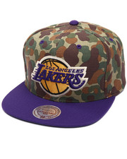 Mitchell & Ness - Los Angeles Lakers Camo TC Visor Strapback Cap