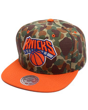 Mitchell & Ness - New York Knicks Camo TC Visor Strapback Cap