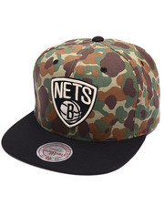 Men - Brooklyn Nets Camo TC Visor Strapback Cap