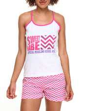 DRJ Lingerie Shoppe - Sweet Babe Chevron Cotton Short PJ Set
