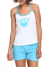 DRJ Lingerie Shoppe - Love Stripes Cotton Capri Pj Set
