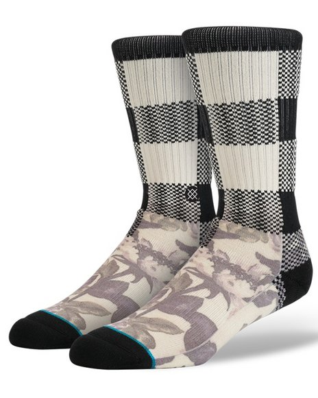 Stance Socks Men Buffalo Weed Socks Off White Large