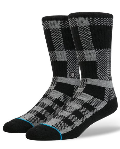 Stance Socks Men Hesh Socks Black Large