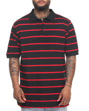 Basic Essentials - Basic Striped Pique S/S Polo (B&T)