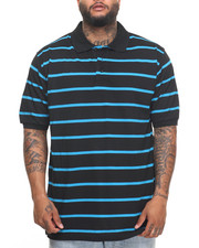 Shirts - Basic Striped Pique S/S Polo (B&T)