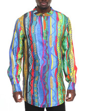 Long-Sleeve - COOGI SWEATER - PRINT SILK S/S HENLEY