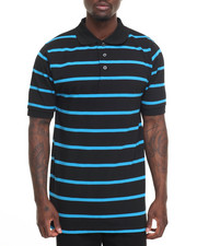 Basic Essentials - Basic Striped Pique S/S Polo