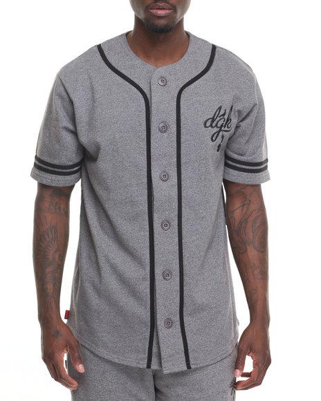 Dgk Men School Yard Baseball Jersey Grey X-Large