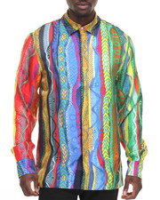 COOGI - COOGI SWEATER - PRINT SILK BUTTON - DOWN