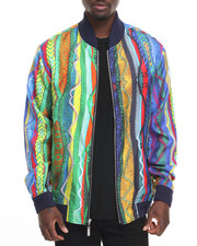 Outerwear - COOGI SWEATER - PRINT SILK BOMBER JACKET
