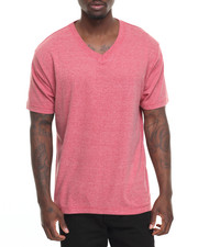 Basic Essentials - Basic Heathered V - Neck S/S Tee