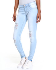 Women - Monkey Wash Acid Skinny Jean W/Ankle Detail